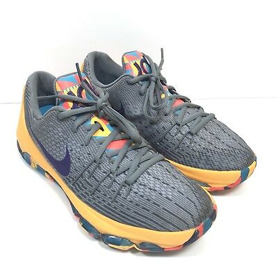 sale retailer dbc3a bcc7c NIKE KD Kevin Durant Youth Size 7 Gray Gold Basketball Shoes 768867-050  Clean