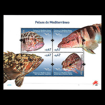 Portugal 2016 - Fish of the Mediterranean Fauna Marine S/S - MNH