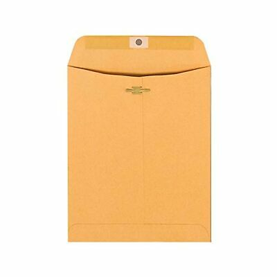 """Office Depot Brand Clasp Envelopes, 9"""" x 12"""", Brown, Box of 100"""