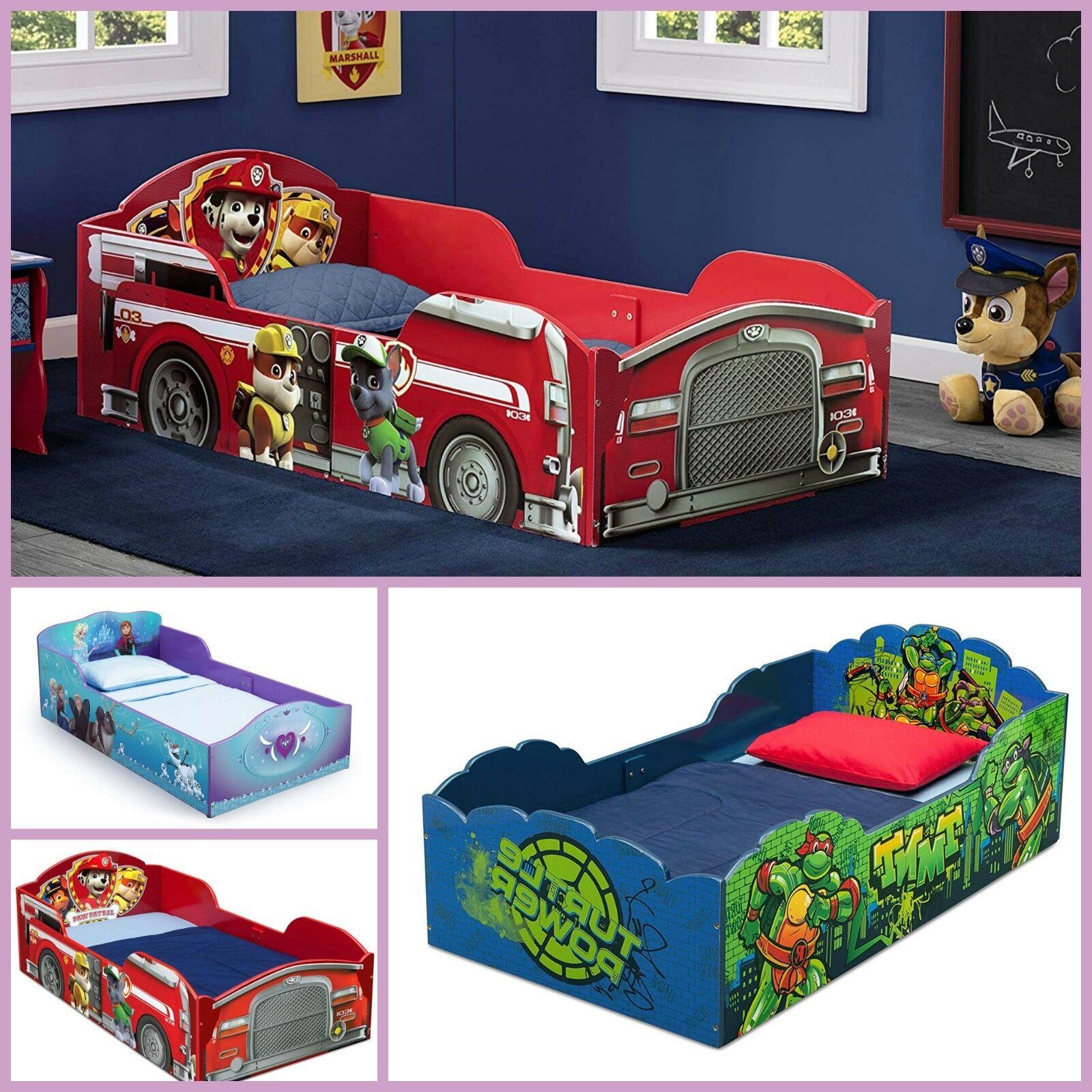Wood Toddler Bed Mattress Kids Bedroom Furniture Disney Cars