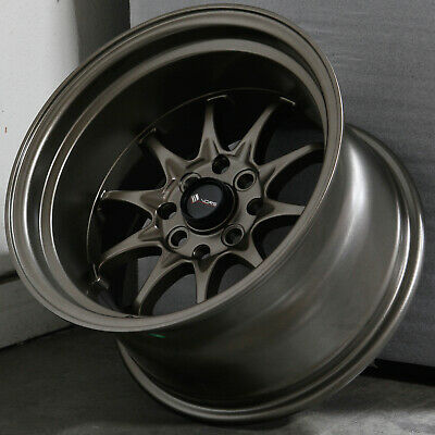 15x9 Bronze Wheels Vors TR3 4x100/4x114.3 0 (Set of 4)  73.1