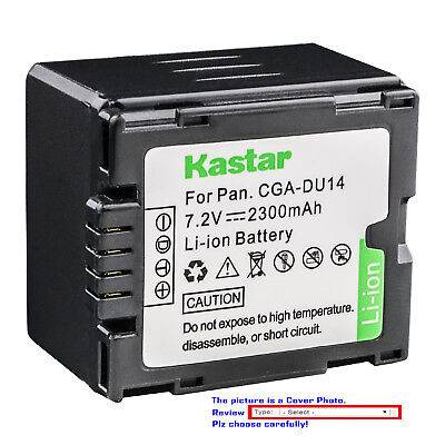 Kastar Replacement Battery for Panasonic CGR-DU14 CGA-DU14 & PV-GS36 PV-GS39 Cga Du14 Lithium Ion Battery