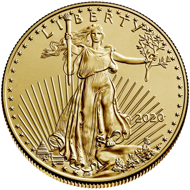 2020 $25 American Gold Eagle 1/2 oz Brilliant Uncirculated