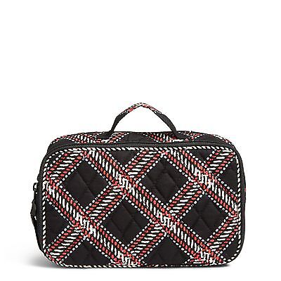 Vera Bradley Factory Exclusive Blush & Brush Makeup Case in Minsk Plaid