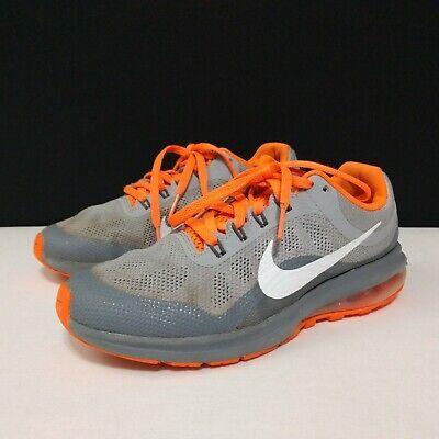 Nike Boys 5Y Gray Orange Dynasty II Air Max Low Top Sneaker Athletic Shoes FLAWS