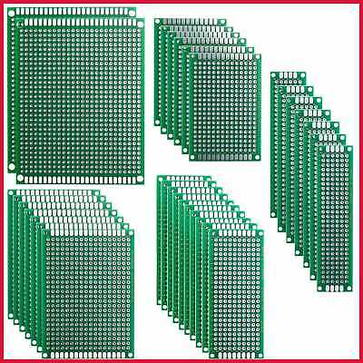 32 Pcs Double Sided Pcb Board Prototype Kit For Diy Soldering W 5 Sizes Compatib