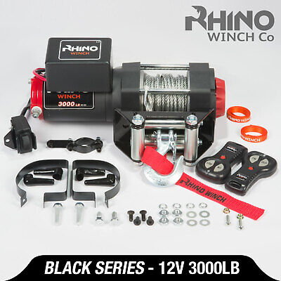 12v Electric Winch, 3000lb Heavy Duty, ATV, Trailer, Boat Recovery ~ RHINO (Electric Trailer Winch)