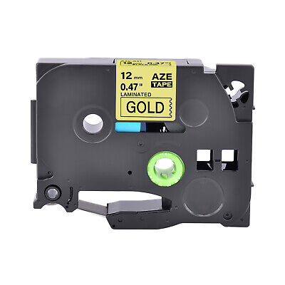 Black On Gold Label Tape Compatible With Brother P-touch Tz Tze-831 12