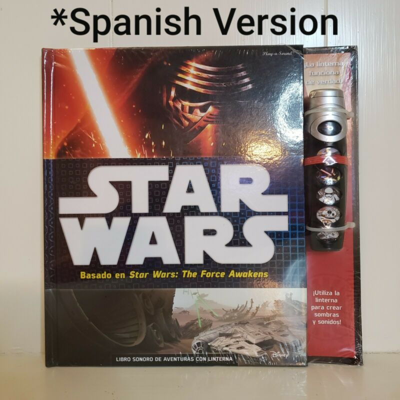 SPANISH VERSION Star Wars Flashlight Adventure Book The Force Awakens Hardcover