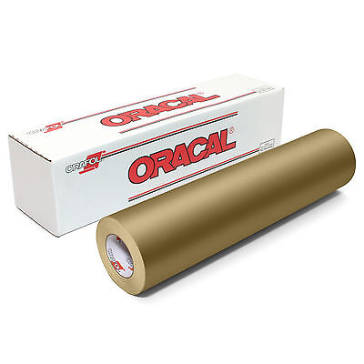 ORACAL 631 Adhesive Backed Matte Vinyl 12in x 10ft Roll - GOLD