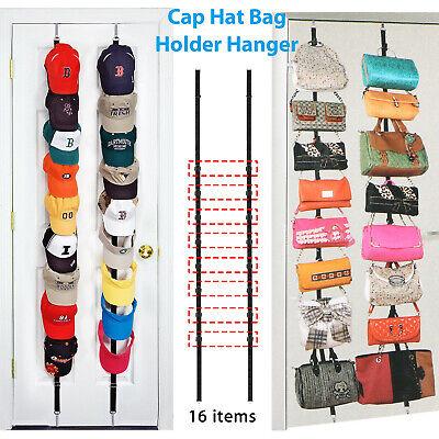 Cap Rack Closet Hanger System Storage 16 Caps Organizer Door Baseball Hat Holder