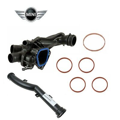 Custom KIT Thermostat & Housing & Water Pipe & intake gaskets Genuine for Mini