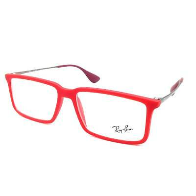 $310 RAY-BAN MENS RED EYEGLASSES FRAMES GLASSES OPTICAL CLEAR LENSES RB 7043