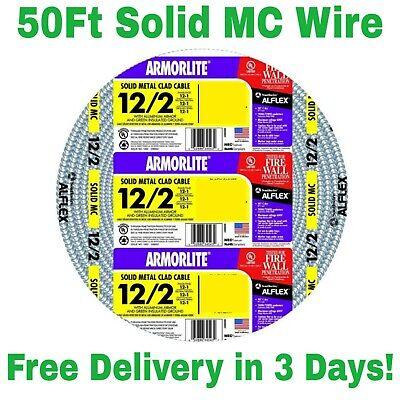Armorlite 50ft 122 Solid Aluminum Mc Cable Wire.