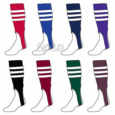 TCK Baseball Stirrups Softball Fastpitch Adult Stirrups Socks with Stripes ](Mens Baseball Stirrups)