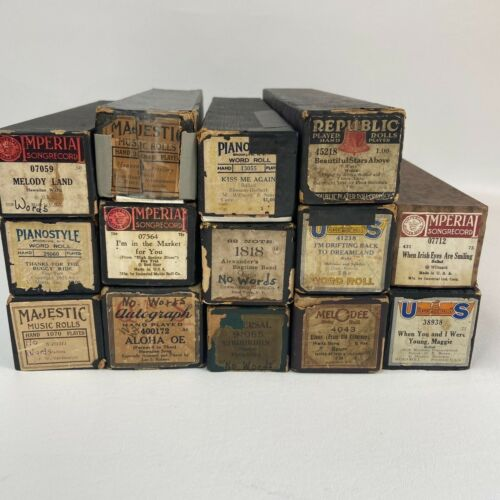 Player Piano Roll Lot of 14 Various Brands