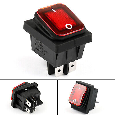 1 Rleil Rl2-102 Waterproof Ip65 Car Rocker Switch 4pin Onoff 125250vac R Ua