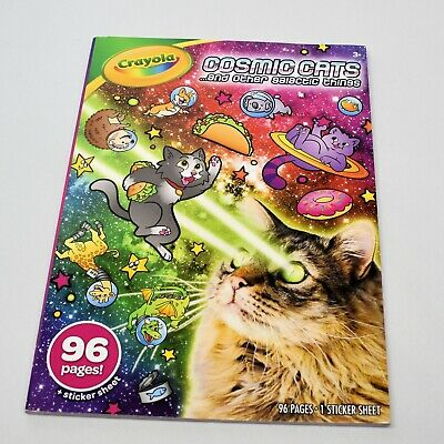 Crayola Coloring Book Cosmic Cats and Other Galactic Things with Sticker Sheet ](Cat Coloring Sheet)