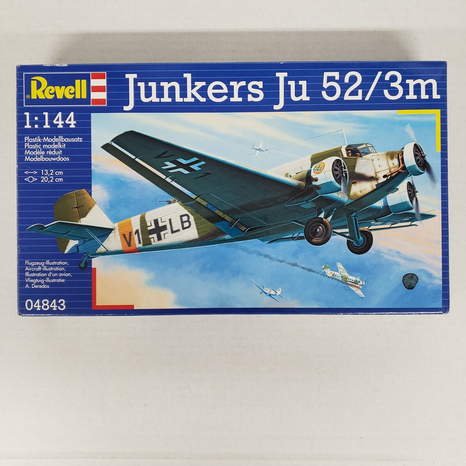 Revell Junkers Ju 52/3m 1 144 Scale Model 04843 OPEN BOX NEW  - $29.99