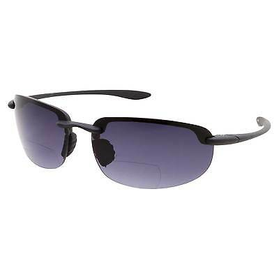 Wrap Rimless Bifocal Sunglasses Sport Sun Reader Reading Glasses Men Women 1.5 (Rimless Bifocal Glasses)