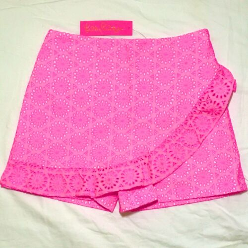 NWT Lilly Pulitzer Faye Skort Prosecco Pink Neon Eyelet sZ 4 ~ BEST DEAL