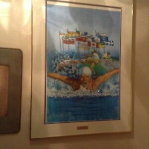 Large framed Summer Olympic print