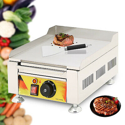 Commercial Electric Fried Flat Cooking Griddle Grill Iron Machine Furnace New