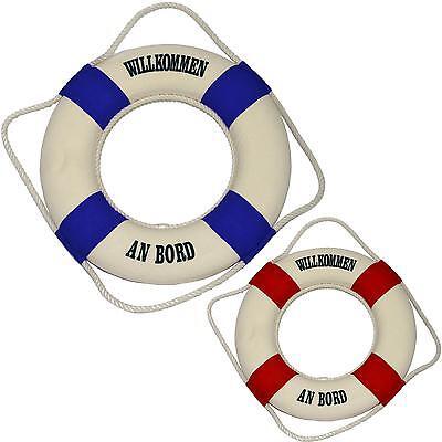Rettungsring Willkommen an Bord  Ø 35cm mit Spiegel maritime Dekoration Schiff ()