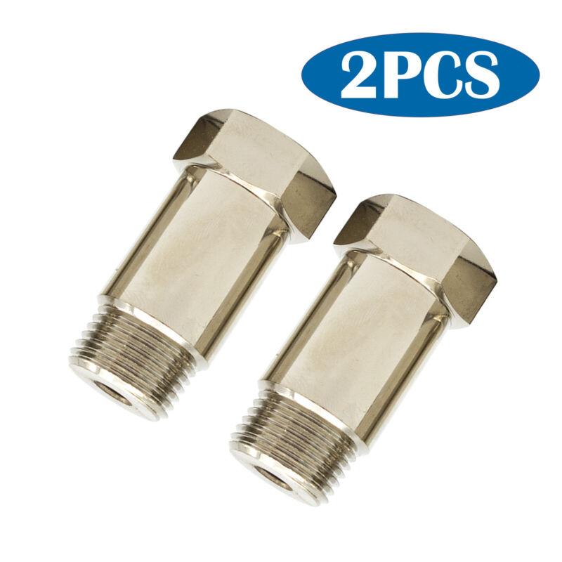 (2) CEL Fix Check Engine Light Eliminator Adapter - Oxygen O2 Sensor ZINC coated