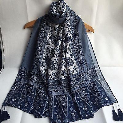 NEW 2017 Autumn Women Fashion Shawl Wrap Long Soft Cotton Tassel Scarf Pashmina