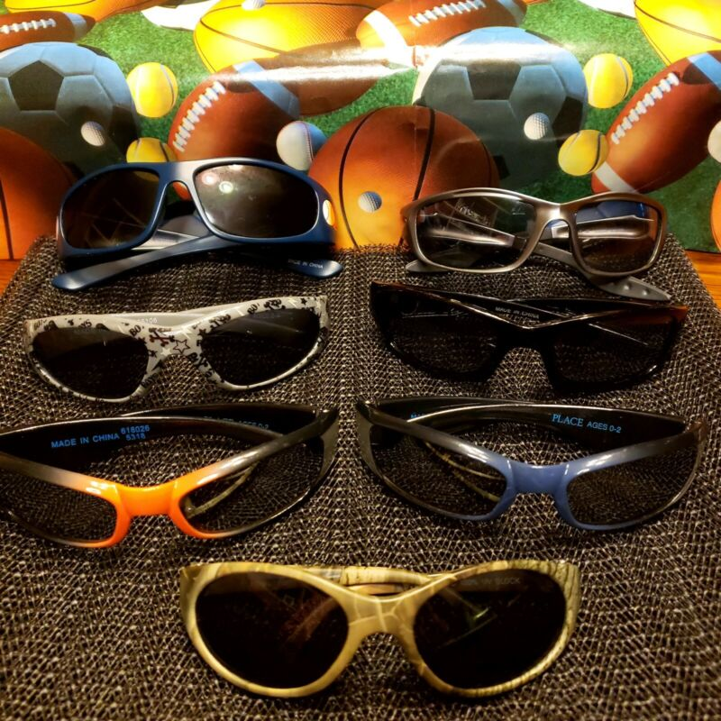 Toddler Boy Sunglasses (7 pair - variety colors)