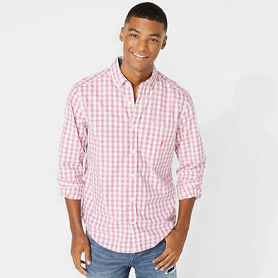 Nautica Mens Classic Fit Plaid Shirt