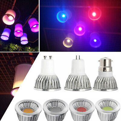 Dimmable LED Spotlight COB Bulb GU10 6W 9W 12W Red Blue Yellow Green Lamp RD763