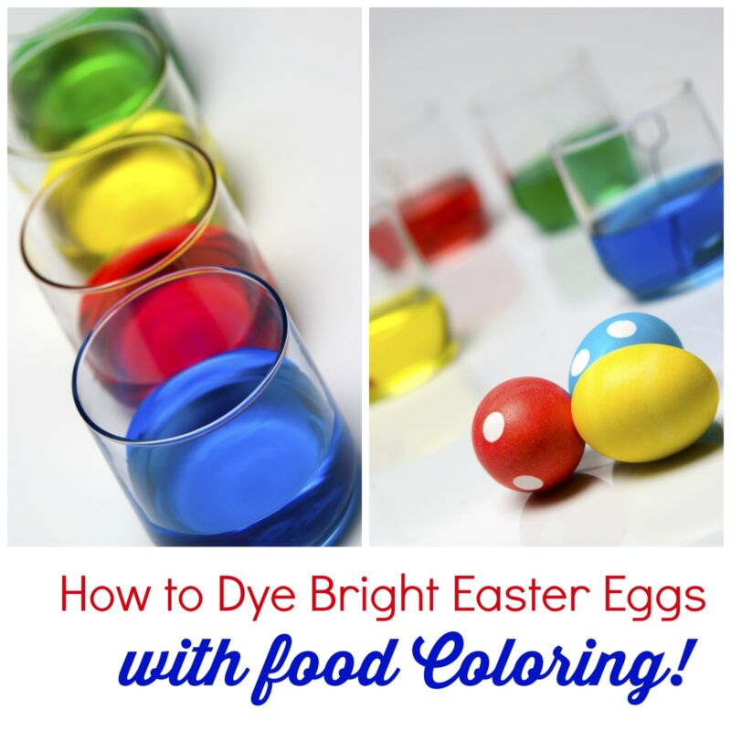 how to color easter eggs with food coloring | Food