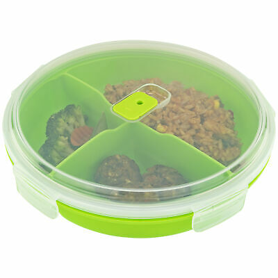 Travel 3 Compartment Microwavable 3 Sections for Salad Meat Fish Leftover Food Home & Garden
