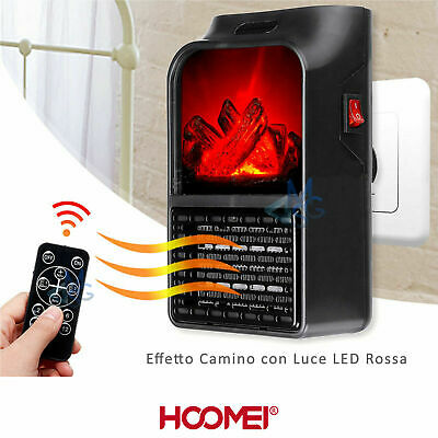 Mini Estufa Eléctrico Portable LED Llama 600 Watts - HM-8835 Chimenea Casa