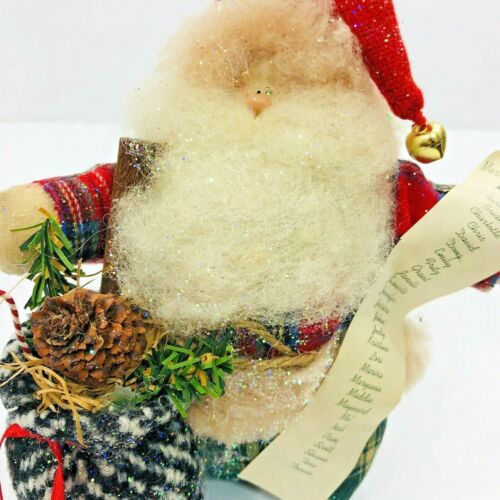 Vintage Santa Making List Rustic Holiday Decor Hand Made Collectable Creation OR