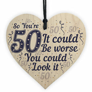 50th Birthday Gifts Novelty Wooden Sign Funny Present For Mum Dad Uncle Auntie