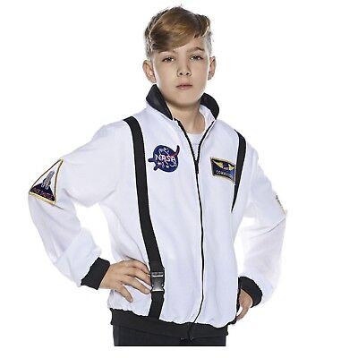 Child Boys White NASA Space Commander Astronaut Halloween Costume Flight Jacket  - Halloween Costume Astronaut
