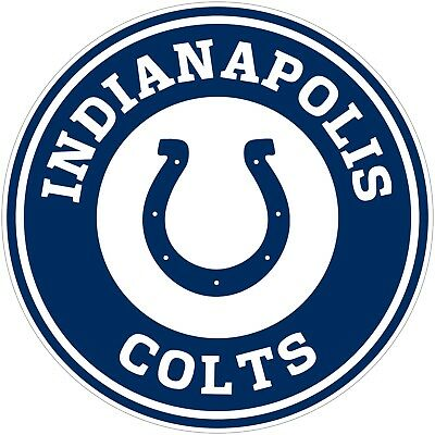 Nfl Indianapolis Colts Decal - Indianapolis Colts NFL Color Vinyl Decal Sticker - You Choose Size 2