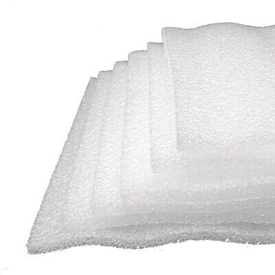 6x Foam Plank 12x12x38 Sheet White Polyethylene Packing Shipping Firm 998-054