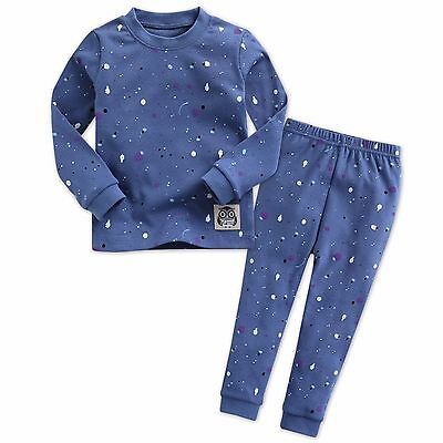 "Mimir Kids Toddler Boys Clothes Sleepwear Pajama ""Painting Navy"" XS(12-24M)"