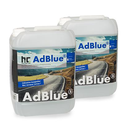 20 Liter (2 x 10 L) AdBlue® inklusive Ausgießer Additiv für Diesel im Kanister