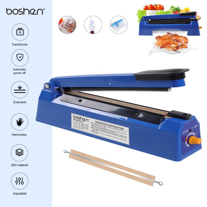 16in Impulse Sealer Manual Heat Sealing Machine W/ Heating Elements Shrink Wrap