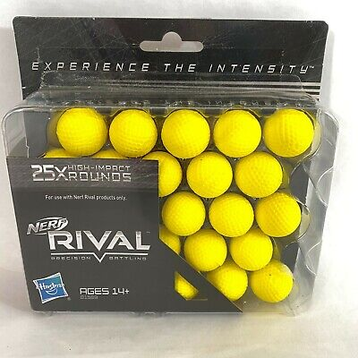 Nerf Rival 25X High Impact Rounds Refill Pack Ammunition Ammo 25 Round Balls