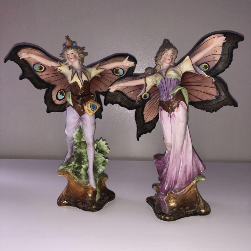 Antique Victorian Nouveau Bisque Porcelain Fairy Lady Maiden Figurine Figure