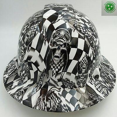 Hard Hat Full Brim Custom Hydro Dipped Osha Approved Speed Demon Racer New