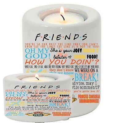 Ceramic Tea Light Candle Holder Friends TV Show Quotes Best Friend Netflix