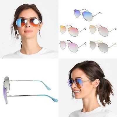 Flat Top Fender (Women Aviator Pilot Flat Top Fashion Mirrored Sunglasses Sunnies Gafas Shades )