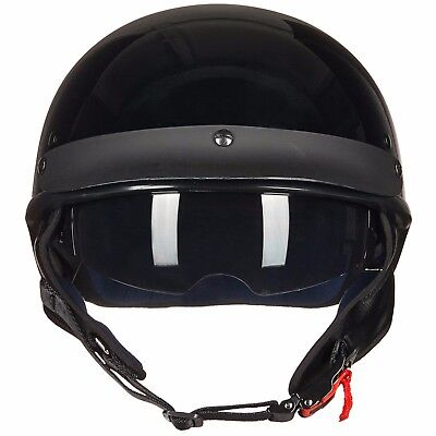 ILM Motorcycle Half Helmet with Fastening Buckle Bike Helmet Sun Visor DOT Gifts